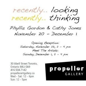 recently.. looking, recently.. thinking | Phyllis Gordon & Cathy Jones