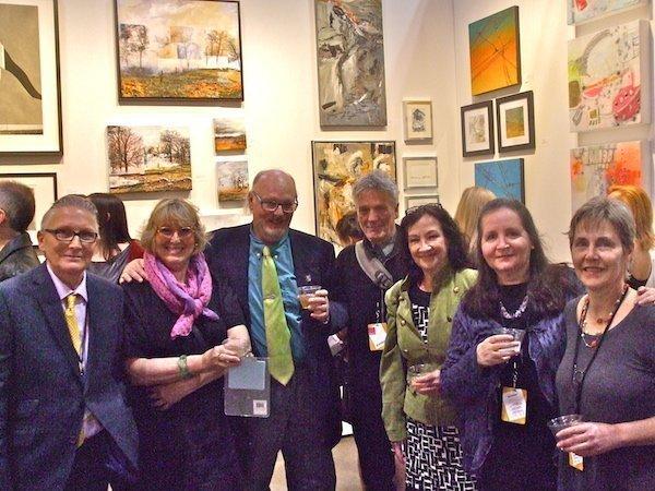 Love Art show artists (L-R): Peter Barelkowski, Jane Murdoch Adams, Dan Dodds, Keijo Tapanainen, Pat Dumas-Hudecki, Frances Patella and Dominique Prevost.