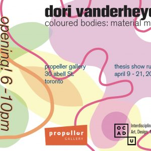 Coloured Bodies: Material Moves | Dori Vanderheyden
