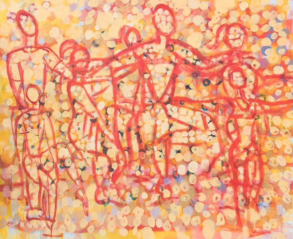Irish Contemporary Dancers, oil on canvas, 52 x 68 inches