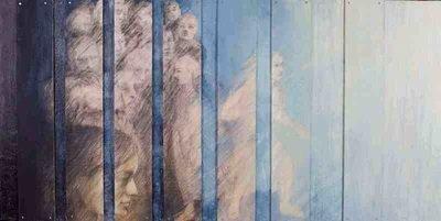 Soul Retrieval, 2012, Encaustic on wood, 24 x 48 inches