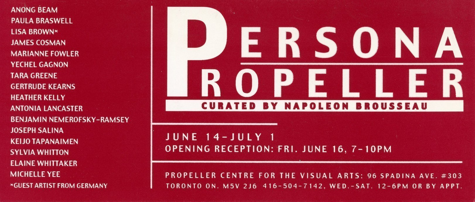 Persona | Curated by Napoleon Brousseau