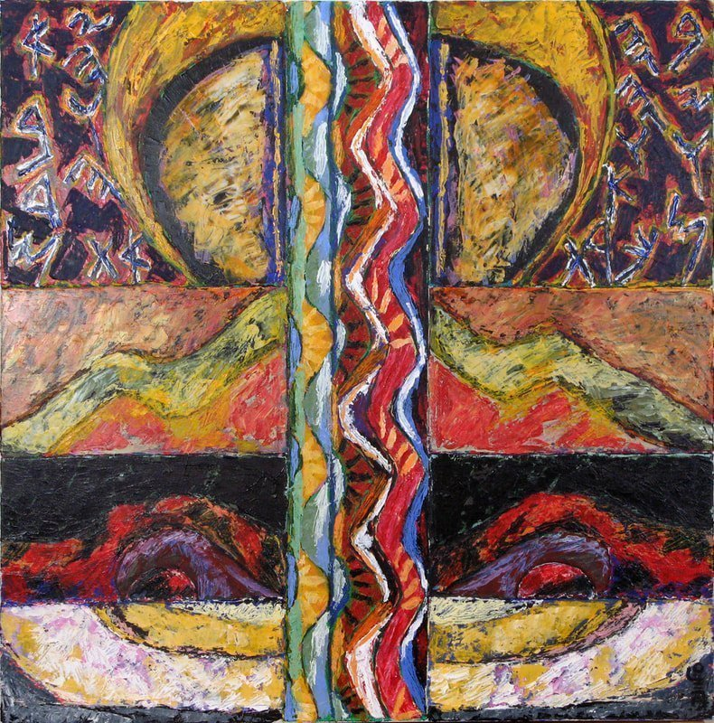 Abraham's Covenant II, 2009,  30 x 30 inches