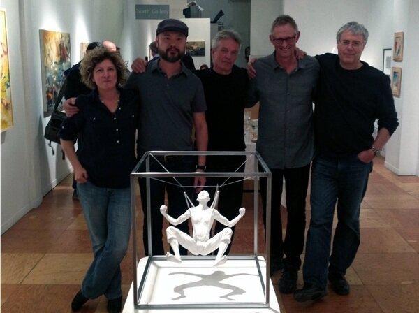2014 Take 5 Exhibition LtoR: Lisa-Johnson, W.W. Hung, Keijo Tapanainen, Pieter Bakker, Jim Bourke