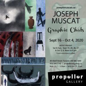 Joseph Muscat Graphic Chats Exhibition