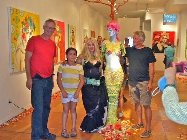 L-R: Pieter Bakker, Miru Kim, Heather Gentleman and Keijo Tapanainen at Song to the Siren Exhibition 2013