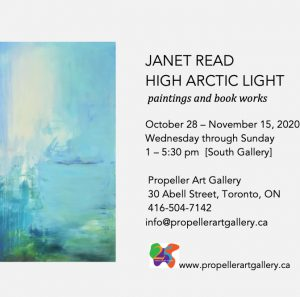 Janet Read High Arctic Light: paintings and book works Invitation