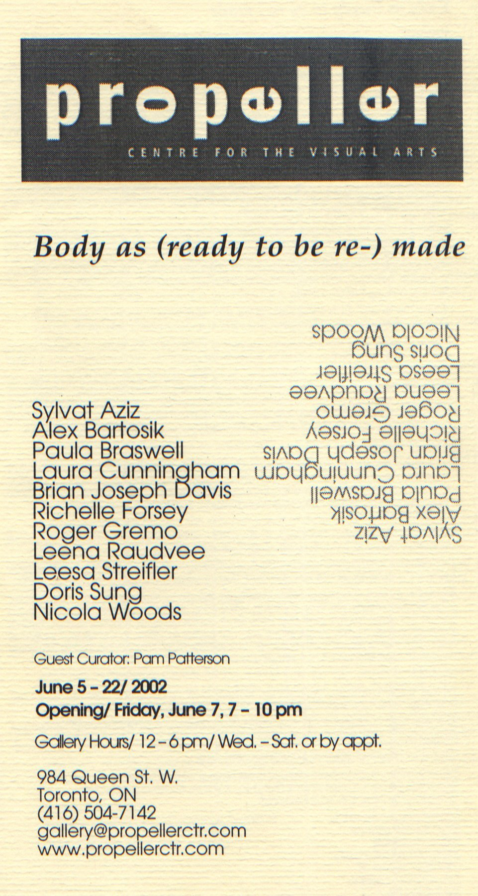 Body as (ready to be re-) Made | Curated by Pam Patterson