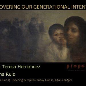Uncovering our Generational Intention   Maria Teresa Hernandez & Paloma Ruiz