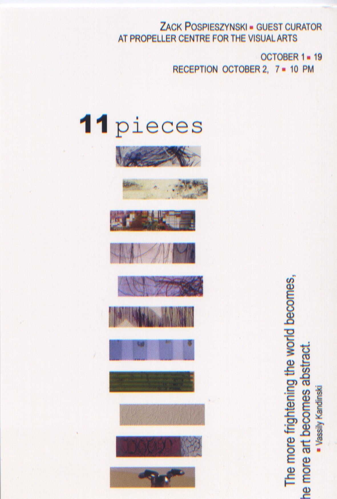 11 Pieces | Curated by Zack Pospieszynski