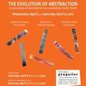 The Evolution of Abstraction   Curated by Gwen Tooth