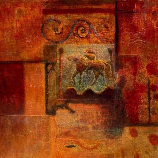 Roman Mosaics, Photo transfers and acrylic on board, 24 x 24 inches