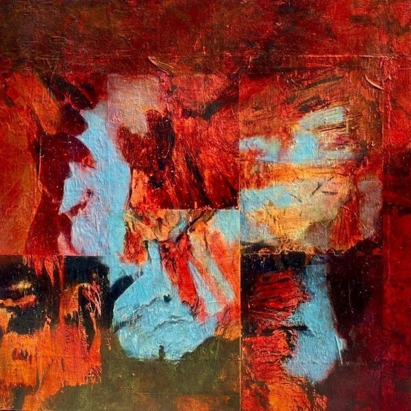 Serbia Cave, Photo transfers and acrylic on board, 24 x 24 inches
