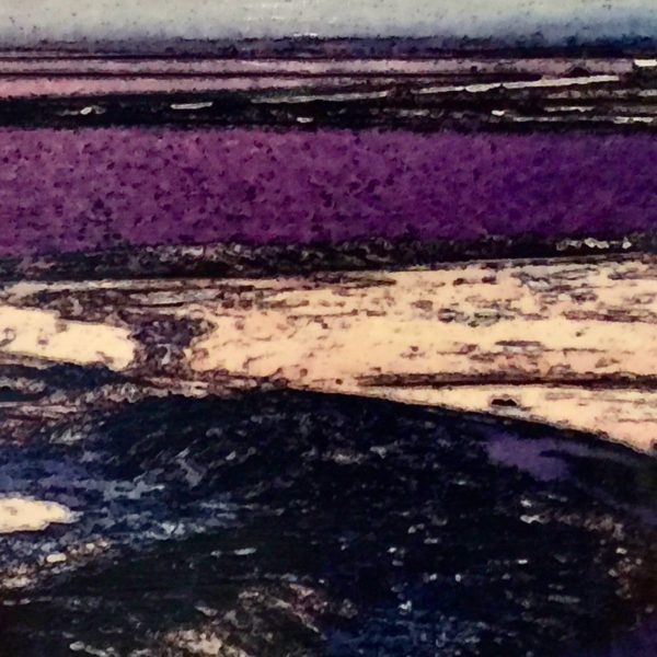 Swakopmund Saltpan, 2020, Photo Transfer on Board, 11 x 14 inches