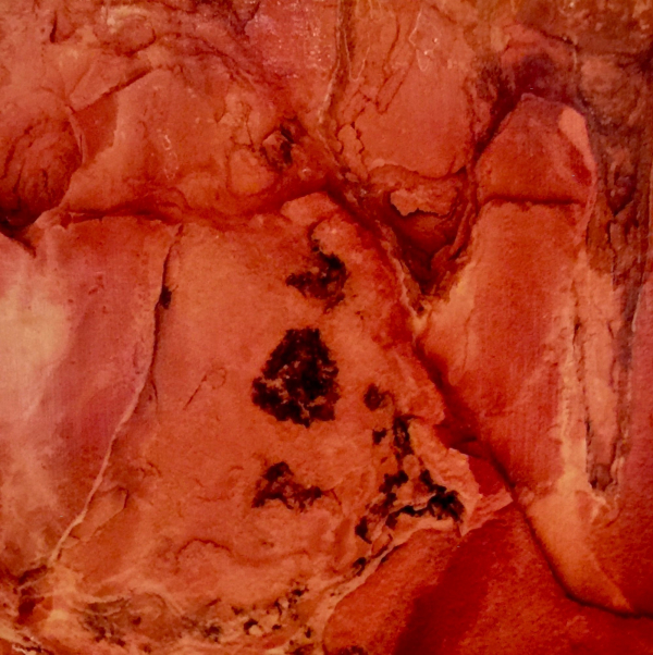 Twyfelfontein, Rock at Sunset, 2020, Photo Transfer on Board, 12 x 12 inches