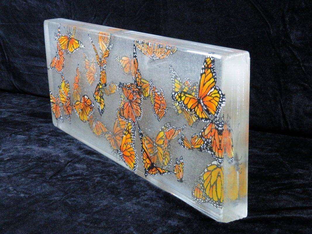 Migration, 2020, Glass Enamel, 24 x 9 x 2 inches