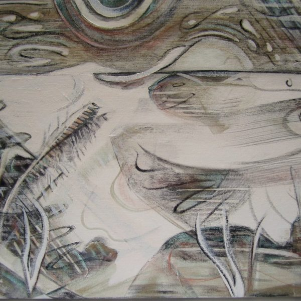 Listen, Acrylic on Canvas, 18 x 25 inches