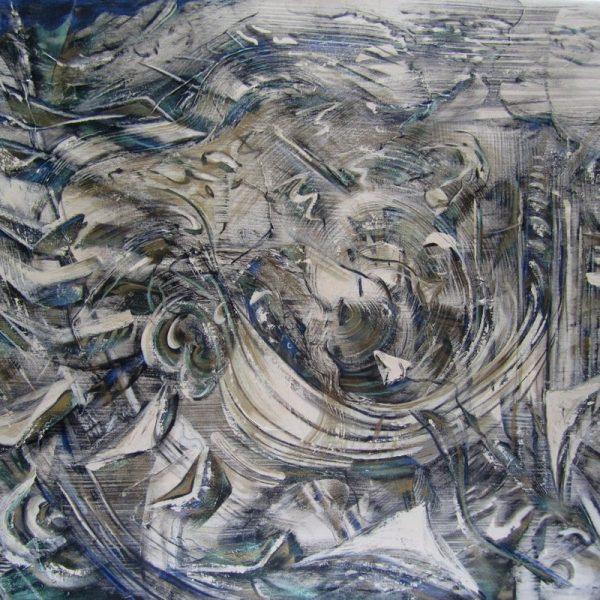 Sound Flight, Acrylic on Canvas, 36 x 44 inches
