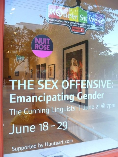 Emancipating Gender show window