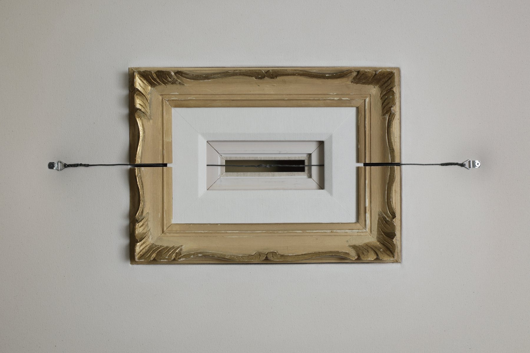 Double Liner, Mixed media, 36 x 47 ½ x 2 ½ inches