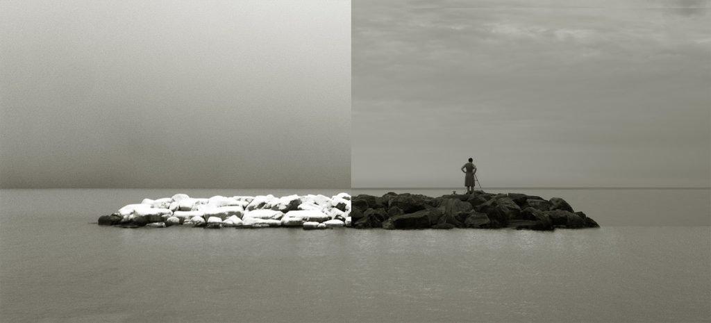 Better Half, Composite photograph, Applied pigment over palladium print, edition of 5
