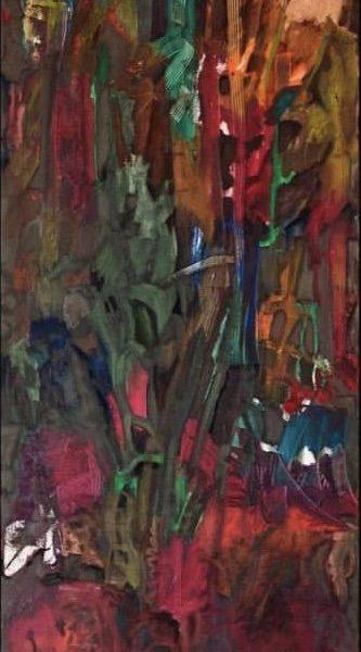 Lush Life, Oil on canvas, 5 x 2 feet