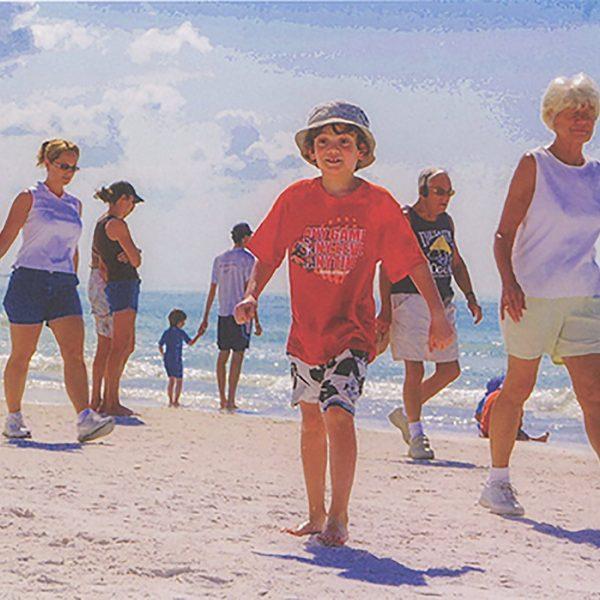 Sacha on the Beach, February 17, 2006, Siesta Beach Sarasota, Florida, Digital Print on Fine-art Paper, 17 x 22 inches