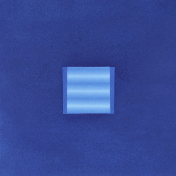 Interference 13, 2020, Cyanotype (photogram) on Hahnemühle Platinum Rag, 12 x 12 inches, Wood Cradled
