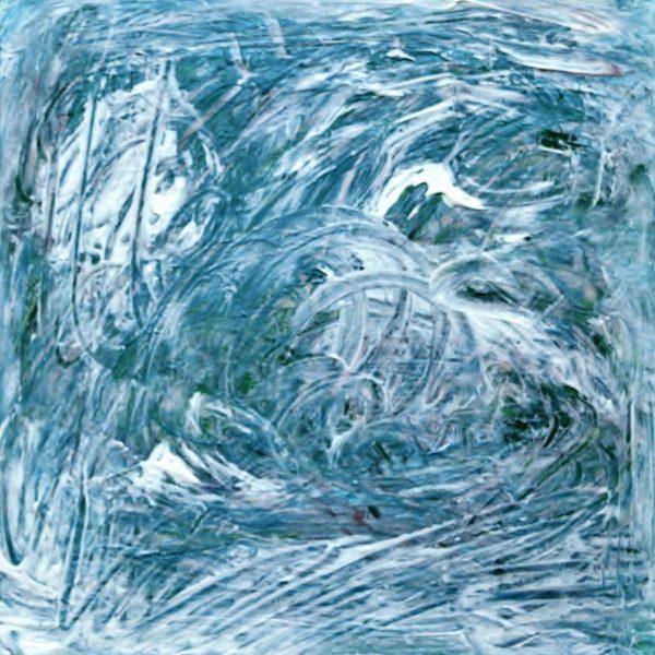 Niagara Falls in Winter #4, 2019/2020, Acrylic on Canvas, 16 x 16 x 1.5 inches