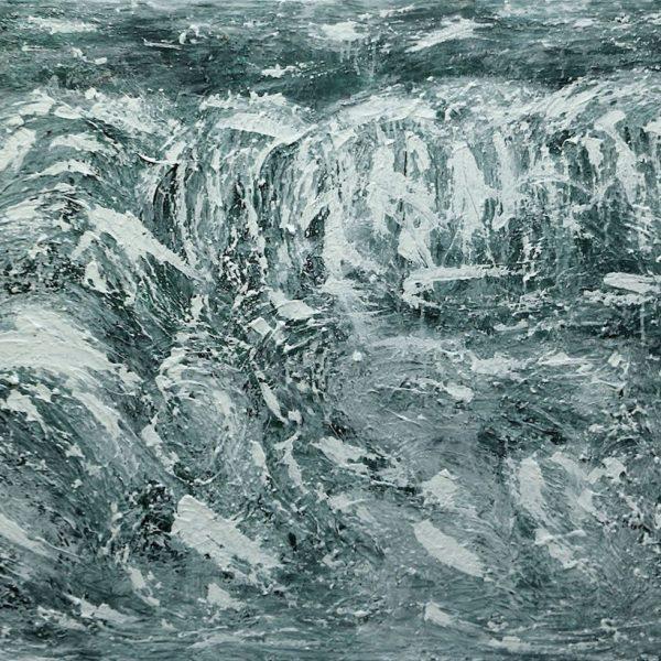 Niagara Falls in Winter #8, 2019/2020, Acrylic on Canvas, 36 x 60 x 1.5 inches