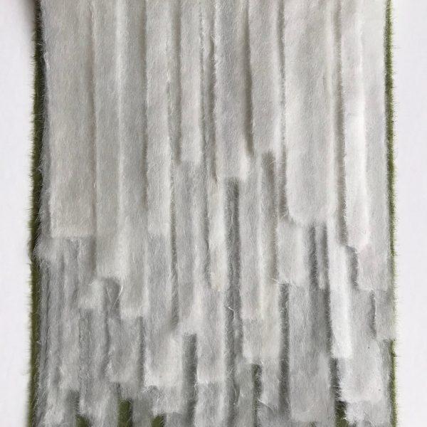 Susan Ruptash, Taki 1, 2020, Sekishu-banshi Tsuru and Uguisu Kizuki kozo, 13 x 9.5 inches, framed