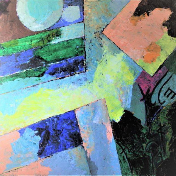 MAKOM II (Psalms 150), 2017, Acrylic on canvas, 30 x 30 inches
