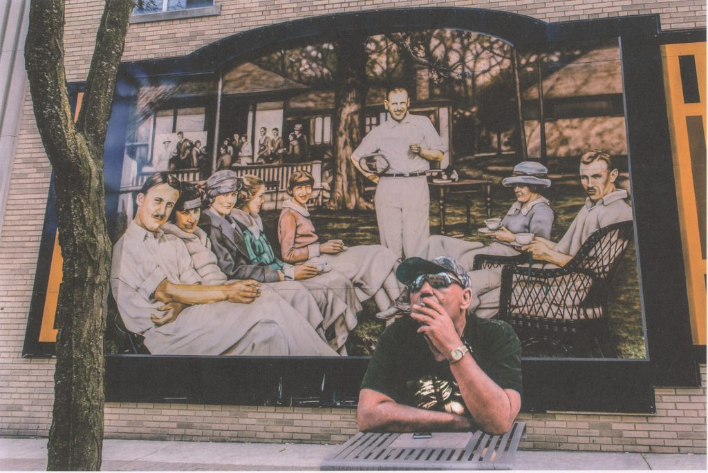 Man Smoking in Maiden Lane, May 9, 2016, Windsor, Ontario, Digital Print on Fine-art Paper, 17 x 22 inches