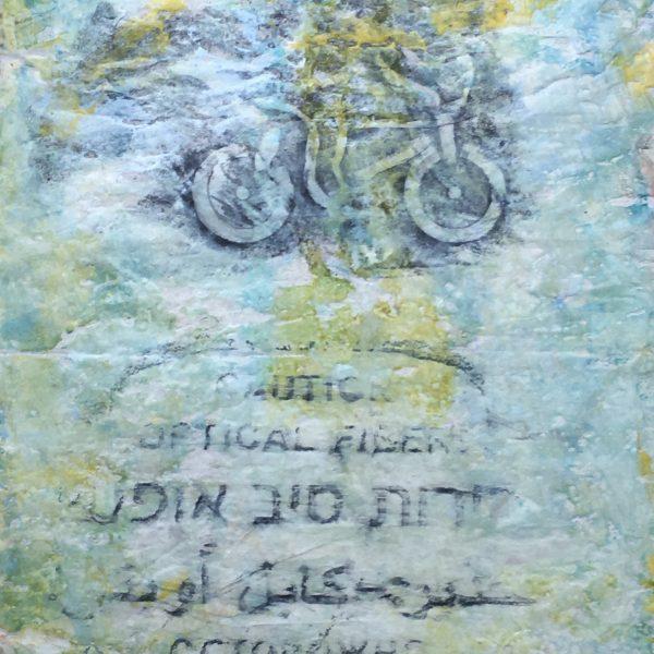 Manhole series #2, Encaustic monotype, 20 x 14 inches