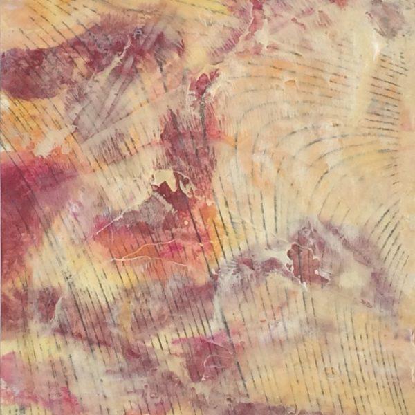 Tidal Rush II, Encaustic monotype, 14.25 x 12 inches