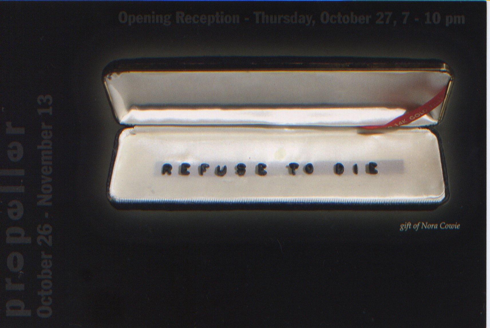 Refuse to Die | Curated by Olga Korper