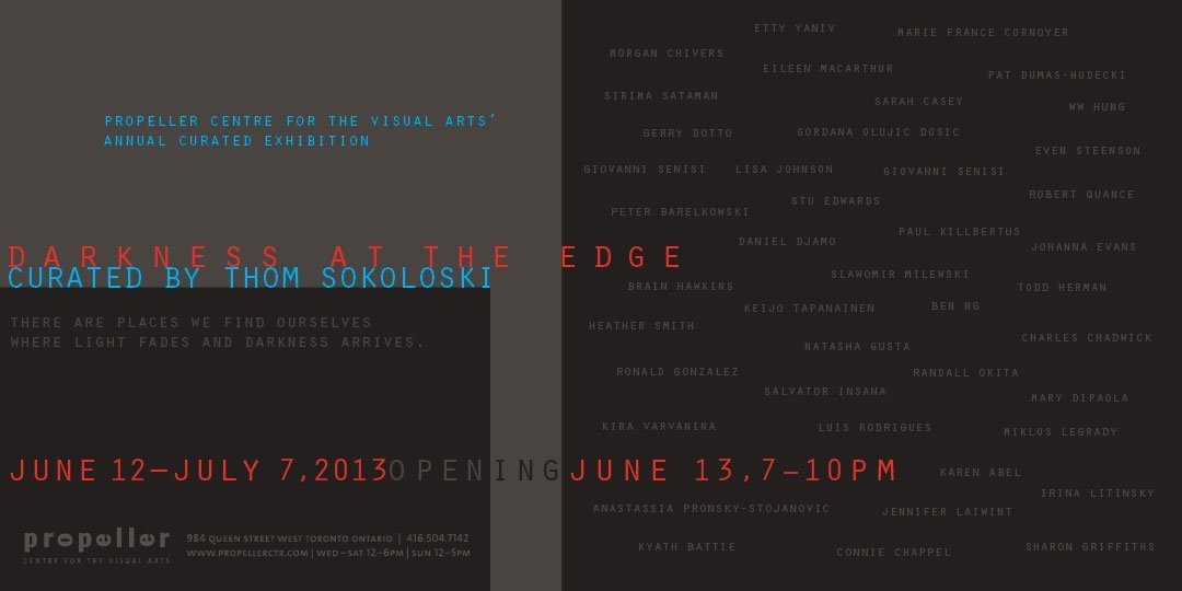 Darkness At The Edge | Curated by Thom Sokoloski