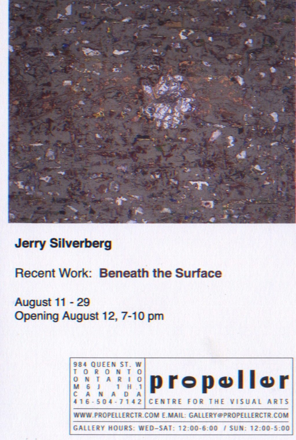 Jerry Silverberg Beneath the Surface
