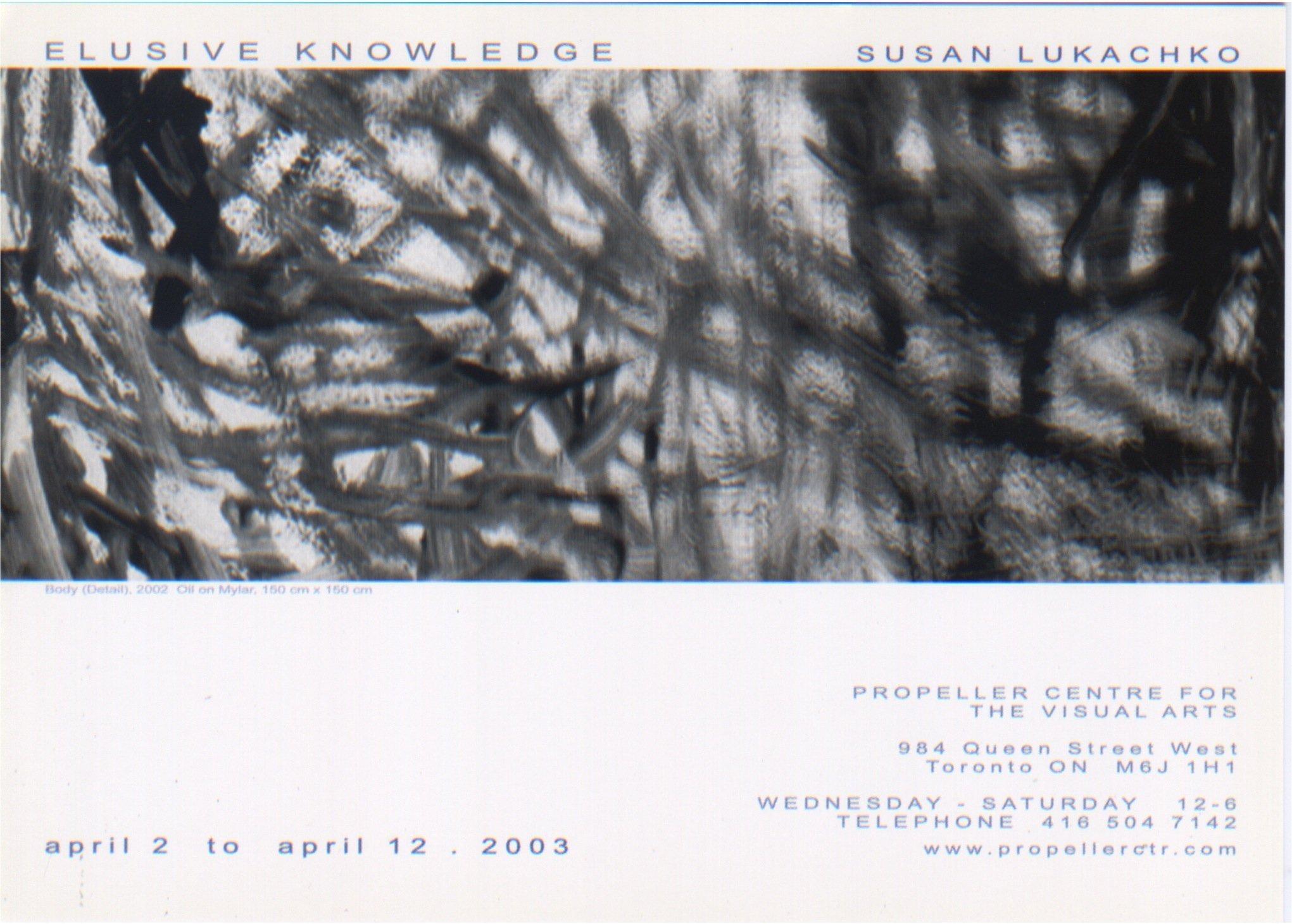 Elusive Knowledge   Susan Lukachko