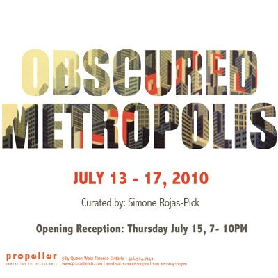 Obscured Metropolis | Curated by Simone Rojas-Pick